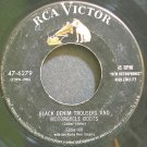 EDDIE HILL~Black Denim Trousers and Motorcycle Boots~RCA Victor 6279 Rare 45