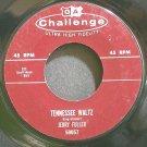 JERRY FULLER~Tennessee Waltz~Challenge 59057 (Dixieland/New Orleans Jazz) VG+ 45