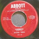 MITCHELL TOROK~Carribean~Abbott 45 VG+ 45