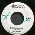 SANTO & JOHNNY~Spanish Harlem~Canadian-American 137 Promo 45