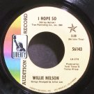WILLIE NELSON~I Hope So~Liberty 56143 Promo VG+ 45