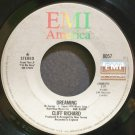 CLIFF RICHARD~Dreaming~EMI America 8057 (Soft Rock)  45
