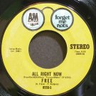 FREE~All Right Now~A&M 8550-S VG++ 45