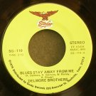 DELMORE BROTHERS~Blues Stay Away From Me~Starday 110 VG++ 45