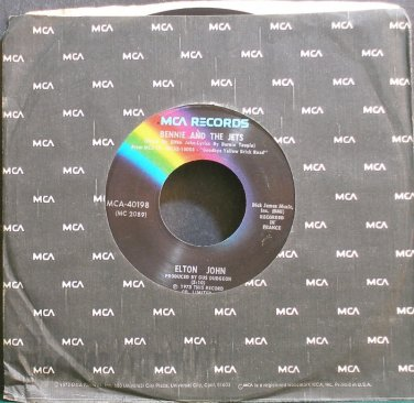 ELTON JOHN~Bennie and the Jets~MCA 40198 (Soft Rock) 1st VG+ 45