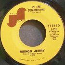 MUNGO JERRY~In the Summertime~Janus 125 (Soft Rock)  45
