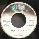 POINTER SISTERS~Fire~Planet 45901 (Disco) VG+ 45