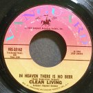 CLEAN LIVING~In Heaven There is No Beer~Vanguard 35162 VG++ 45