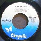 PAT BENATAR~Heartbreaker~Chrysalis 2395 (New Wave) VG+ 45