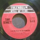 TONY BENNETT~I Left My Heart in San Francisco~Columbia 33062 (Jazz Vocals) VG+ 45