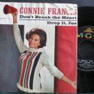 CONNIE FRANCIS~Don't Break the Heart That Loves You (PS)~MGM K13059  45