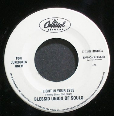 BLESSID UNION OF SOULS~Light in Your Eyes~Capitol 19850 (Indie Rock) Jukebox M- 45
