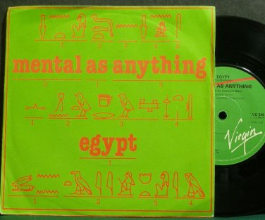 MENTAL AS ANYTHING~Egypt~Virgin 348 (New Wave) VG++ UK 45