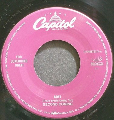 SECOND COMING~Soft~Capitol 58721 (Grunge) Jukebox M- 45