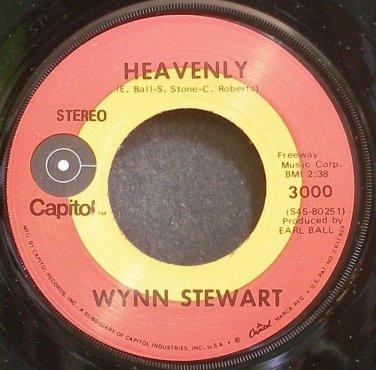 WYNN STEWART~Heavenly~Capitol 3000 VG+ 45