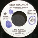 AMY WOOLEY~Back Door to Heaven~MCA 52143 Promo VG+ 45