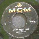 CONNIE FRANCIS~Many Tears Ago~MGM K12964  45