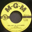 JONI JAMES~Mama, Don't Cry at My Wedding~MGM K11802  45