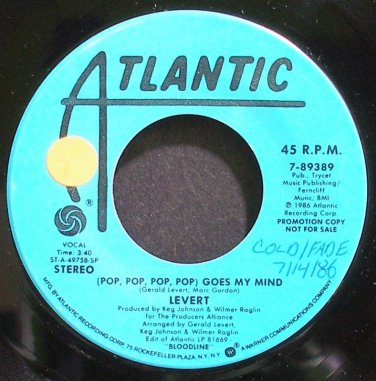 LEVERT~Pop, Pop, Pop, Pop Goes My Mind~Atlantic 89389 Promo M- 45