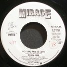 ROBIN GIBB~Boys Do Fall in Love~Mirage 99743 (Synth-Pop) Promo VG+ 45