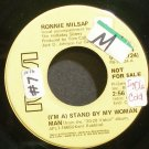 RONNIE MILSAP~(I'm A) Stand by My Woman Man~RCA 10724 Promo VG+ 45