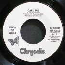 GO WEST~Call Me~Chrysalis 42865 (Synth-Pop) Promo M- 45
