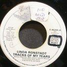 LINDA RONSTADT~Tracks of My Tears~Asylum 45295 Promo 45