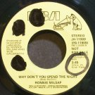 RONNIE MILSAP~Why Don't You Spend the Night~RCA 11909 Promo 45