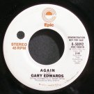 GARY EDWARDS~Again~EPIC 50092 Promo VG++ 45
