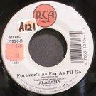 ALABAMA~Forever's as Far as I'll Go~RCA 7-R  45