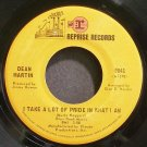 DEAN MARTIN~I Take a Lot of Pride in What I am~Reprise 0841 (Jazz Vocals)  45