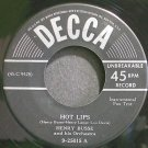 HENRY BUSSE~Hot Lips~Decca 25015 (Big Band Swing) 1st 45