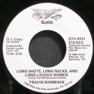 TRAVIS WAMMACK~Long Shots, Long Necks, and Long-Legged Women~Gusto 9033 (Rock & Roll) Promo VG++ 45