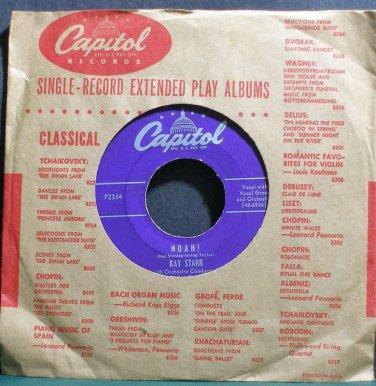 KAY STARR~Noah!~Capitol F2334 (Jazz Vocals)  45