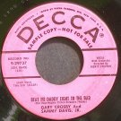 SAMMY DAVIS JR. & GARY CROSBY~Beat Me Daddy Eight to the Bar~Decca 29737 (Jazz) Promo 45