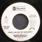 HAROLD MELVIN & THE BLUE NOTES~Baby, You Got My Nose Open~ABC 12327 (Soul) Promo 45