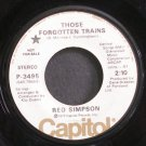 RED SIMPSON~Those Forgotten Trains~Capitol 3495 Promo 45