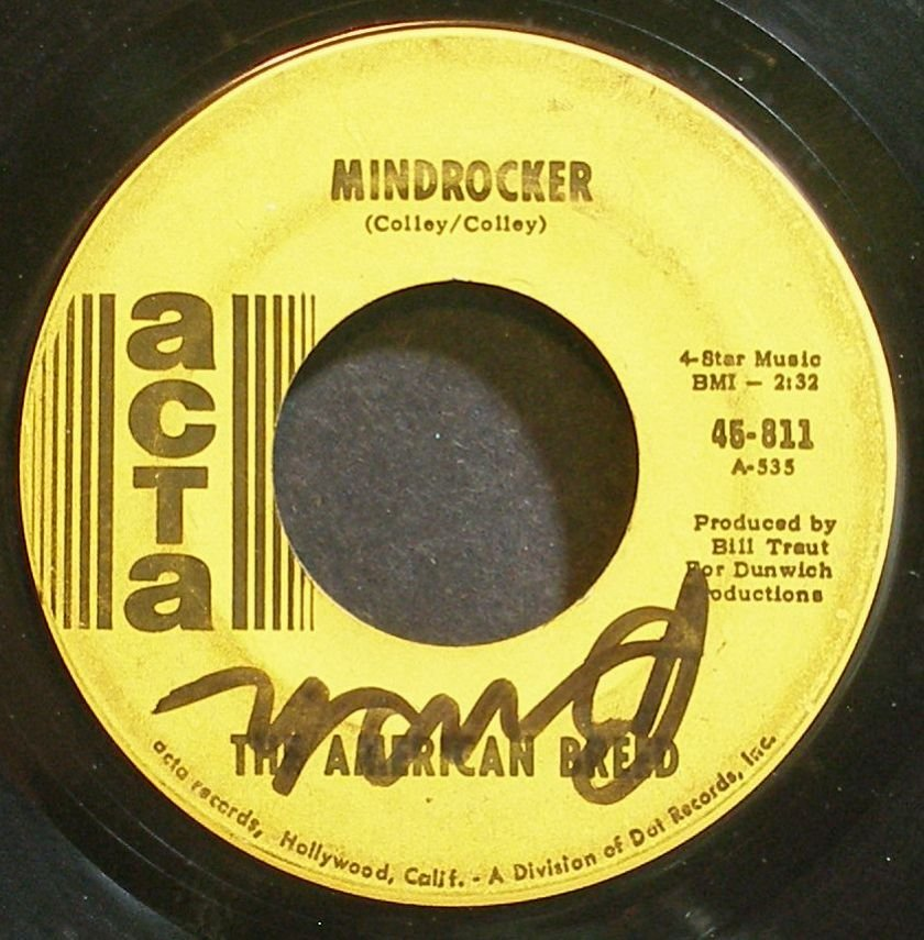 AMERICAN BREED~Bend Me, Shape Me~Acta 811 (Psychedelic Rock)  45