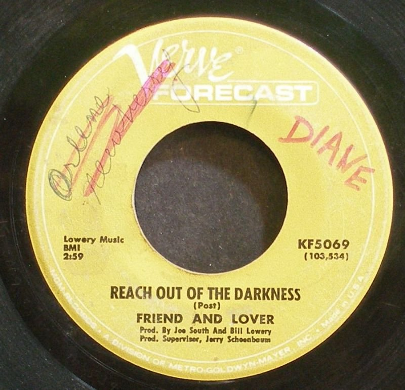 FRIEND AND LOVER~Reach Out of the Darkness~Verve Forecast 5069 (Soul)  45