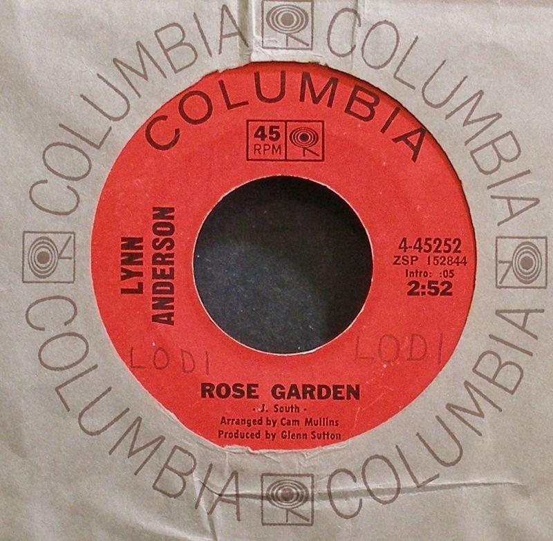 LYNN ANDERSON~Rose Garden~Columbia 45252 VG+ 45