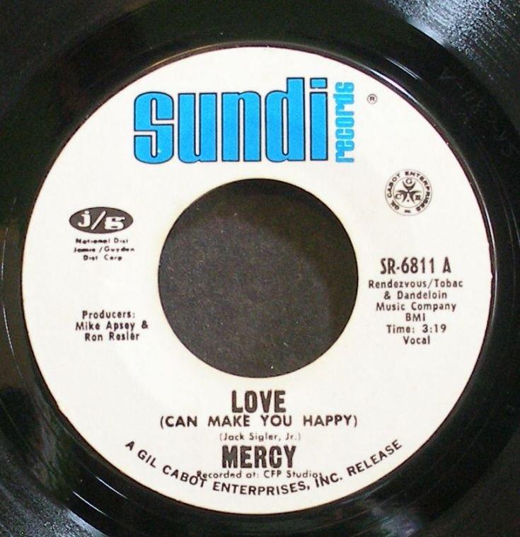 MERCY~Love (Can Make You Happy)~Sundi 6811 (Soft Rock) VG+ 45