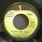 PLASTIC ONO BAND~Give Peace a Chance~Apple 1809 (Soft Rock) VG+ 45