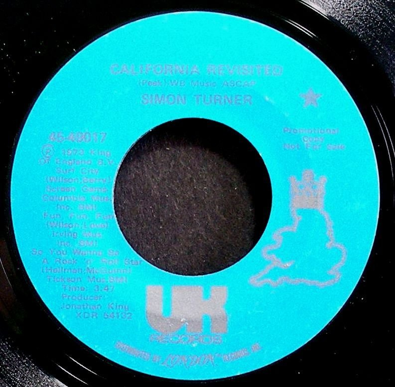 SIMON TURNER~California Revisited~UK 49017 Promo VG+ HEAR 45
