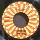 LLOYD PRICE~Personality~Roulette 123 (Soul) VG+ 45