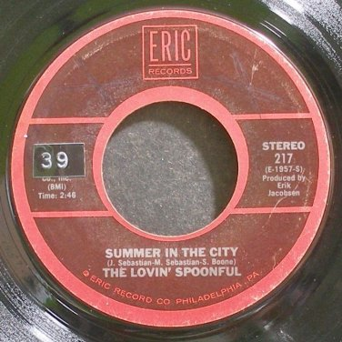 LOVIN' SPOONFUL~Summer in the City~Eric 217 (Classic Rock)  45