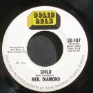 NEIL DIAMOND~Red Red Wine~Solid Gold 107 Rare 45