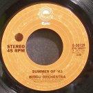 BIDDU ORCHESTRA~Summer of '42~EPIC 50139 (Soul)  45