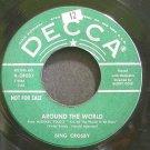 BING CROSBY~Around the World~Decca 38031 (Easy Listening) Promo 45