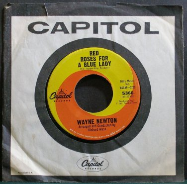 WAYNE NEWTON~Red Roses for a Blue Lady~Capitol 5366 VG+ 45