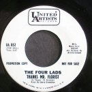 FOUR LADS~Thanks Mr. Florist~United Artists 852 Promo VG+ 45